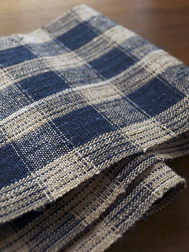 """Blue Reflection"" ""Obi"" Japanese traditional sash for kimono. Textile Cocoon (Harue Nishikawa)"