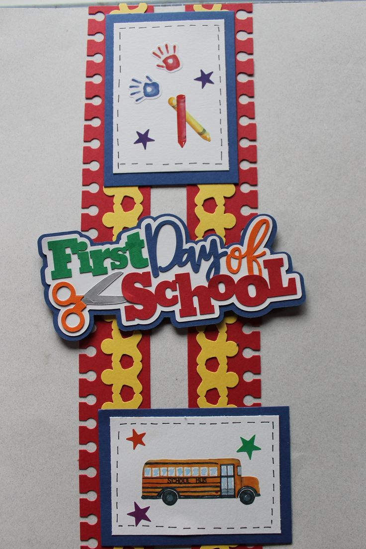 Scrapbook ideas school - Yes Trying To Use Up Those Stickers Nice To Be Able To Use The Notebook Punch From Cm The Gingerbread Punch Makes The Chain Of Kids School