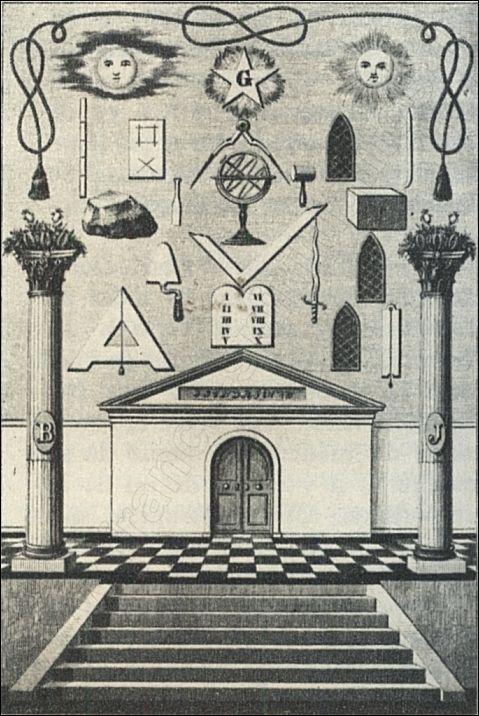 Tapis ou tableau de loge au 2e grade symbolique de for Architecture symbolique