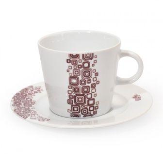 Tazza da cappuccino Q-Deco   Tazza classica da cappuccino collezione Q-Deco, ispirata all'Art-Decò.  In porcellana liscia bianca dipinta a mano e completa di piattino.  Capacità: 200ml - Diametro: 14,5cm  E' possibile lavarla in lavastoviglie ed è resistente al forno a microonde.   #aurile #FMGroup #FMGroupItalia #coffee #caffè #coffeebreak