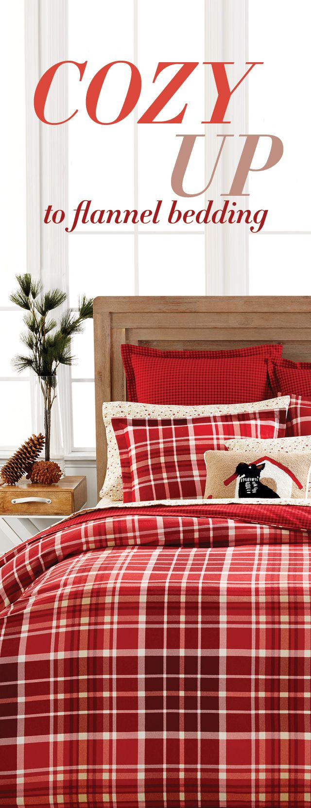 Get your home in the holiday mood with comfy flannel bedding from the Martha Stewart Collection — whether you choose festive tartan patterns or elegant floral prints, they're the perfect way to warm up to the season ahead!