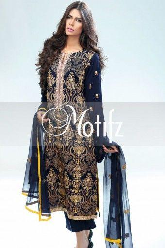 MOTIFZ PRODUCT: MWU00971-NAVY-BLUE, RETAIL PRICE: 5290, ITEM TYPE: KHADDAR