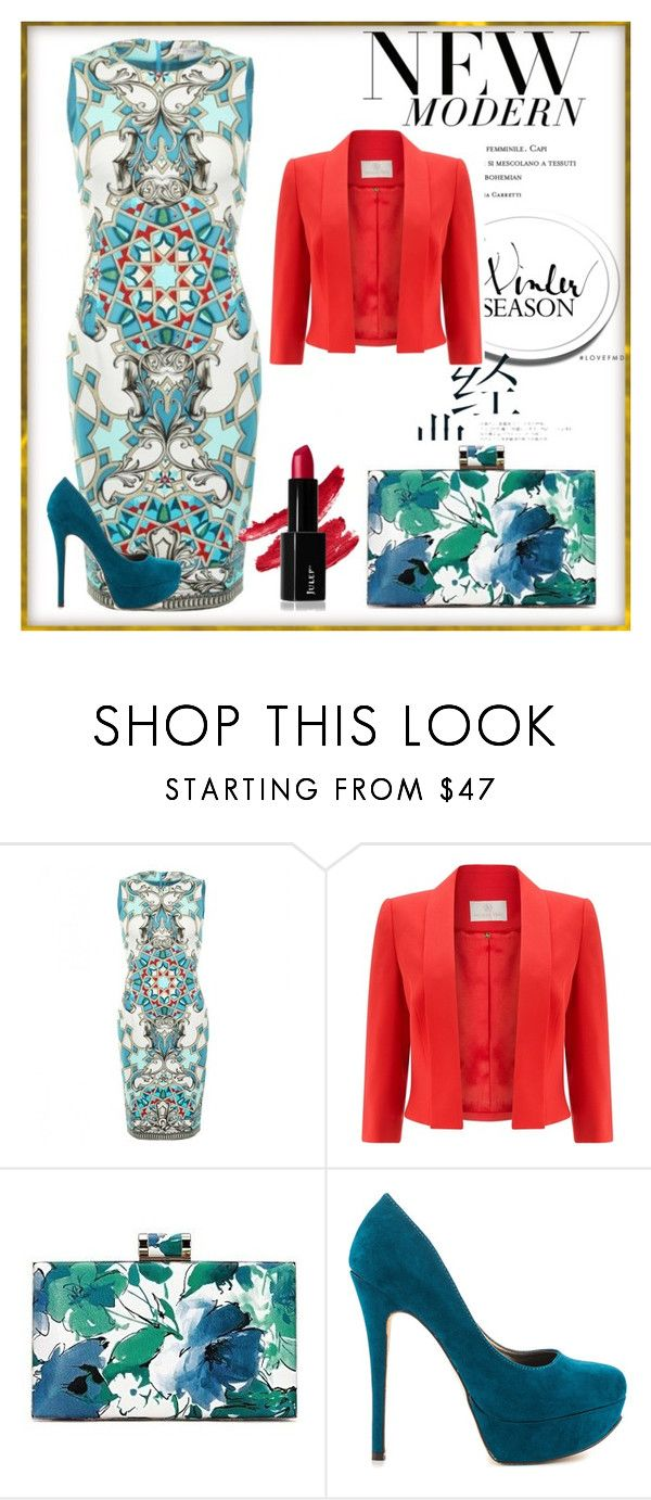 """Looking glam x"" by xpinkplaymatex ❤ liked on Polyvore featuring Versace, Jacques Vert and Michael Antonio"