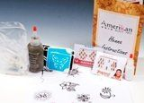 Amerikan Body Art Henna Party Kit by Amerikan Body Art. $29.99. 1 poof bottle of holographic white glitter. 4oz Pre-Made Henna paste. instructions. 12 stencils. 3-pack of skweezie bottles with small metal tips. Apply Henna Paste to clean dry skin.  Leave the paste on the skin for a minimum of 2 hours, preferably 4 or more hours in cooler dryer climates.  After several hours, you may scrape off the henna paste.  Don't wash it off and avoid wetting that area for the rest of the d...