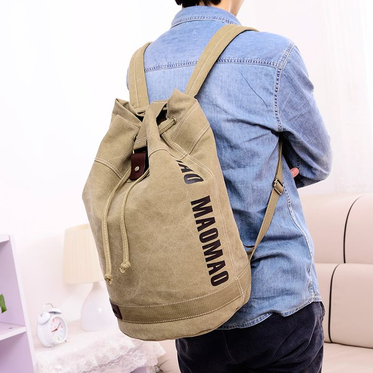 2016 new canvas bag men and women backpacks Canvas travel backpack AM082
