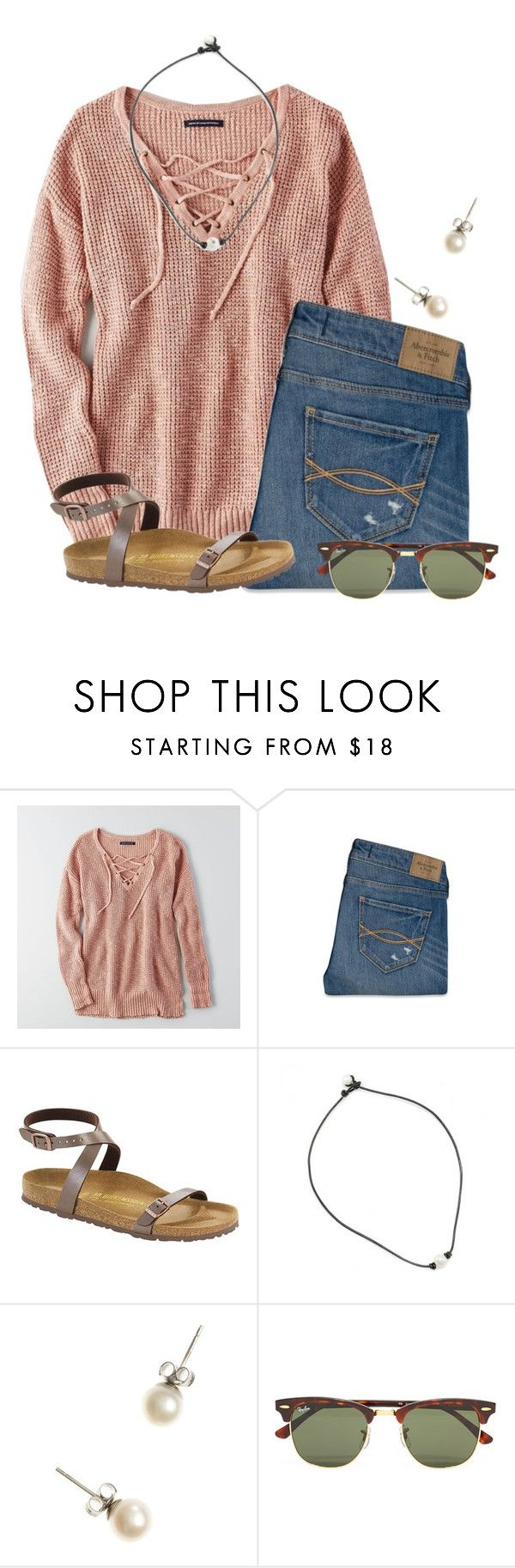 """Merry Christmas!!!!! "" by flroasburn ❤ liked on Polyvore featuring American Eagle Outfitters, Abercrombie & Fitch, Birkenstock, J.Crew and Ray-Ban"