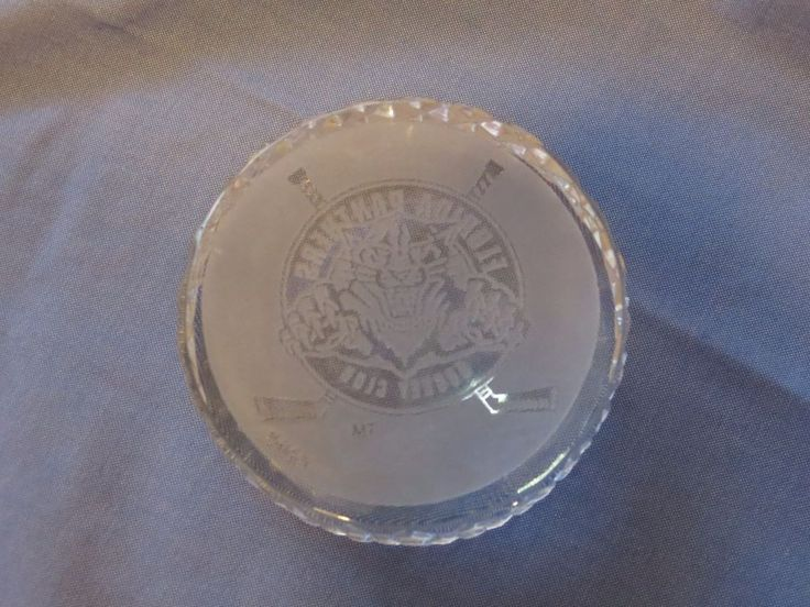 Waterford RARE Florida Panthers club NHL Hockey puck paperweight crystal NHL