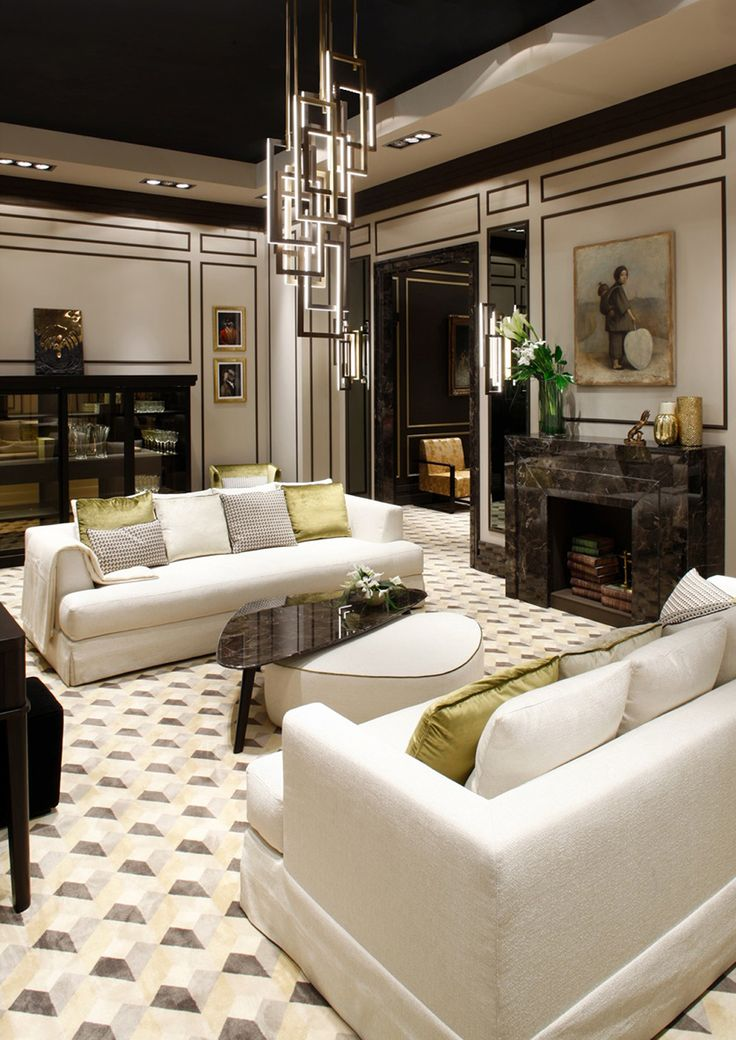 Brando sofa by Oasis, for cozy living rooms. This living room features also Andrè ottoman and coffee table, with marble top.