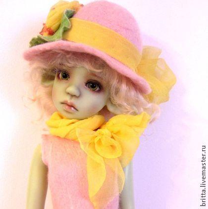 """Аутфит для Нелли """"Леди"""" - розовый,кукла,одежда для кукол,шарнирные куклы"""
