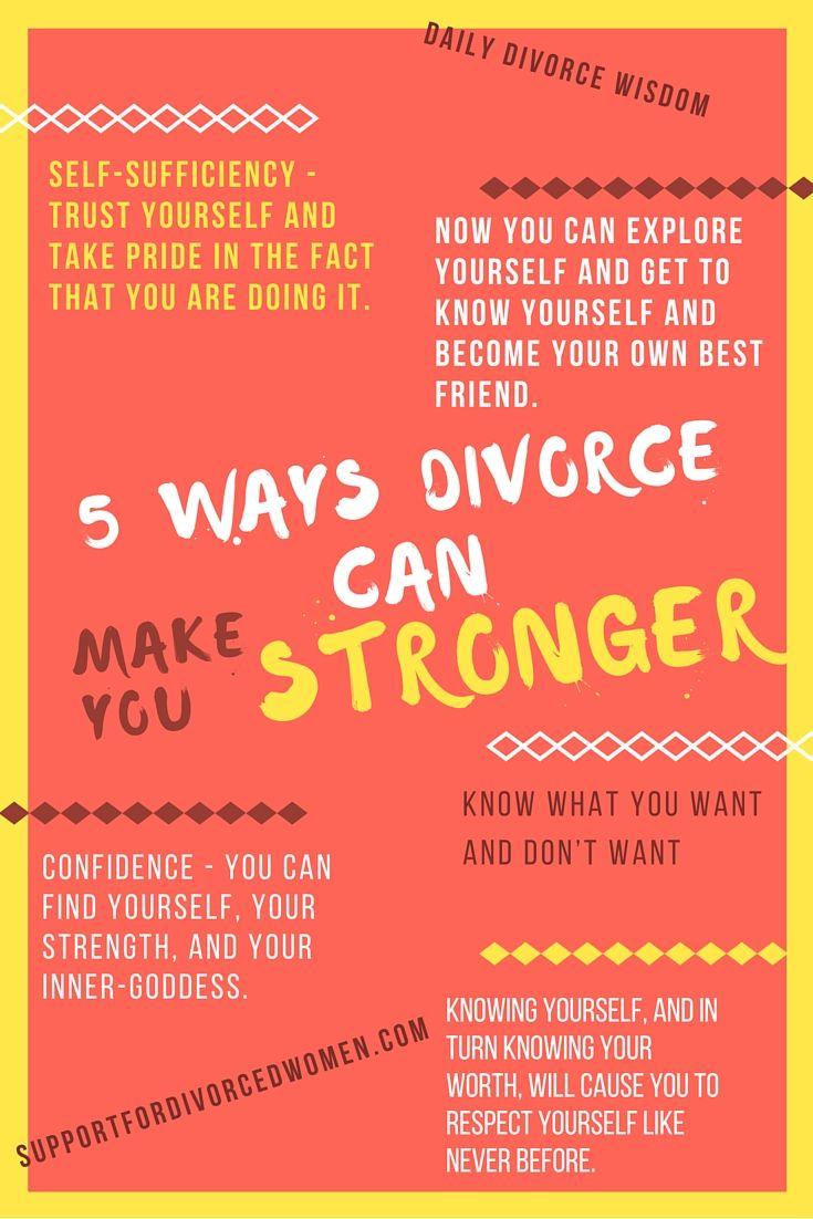5 Ways Your Divorce Can Make You Stronger... http://www.coachingfordivorcedwomen.com/5-ways-divorce-can-make-stronger/