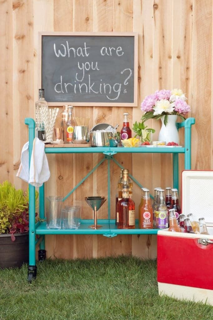 Your Party Guests Will Love Mixing Up Their Own Cocktails at This DIY Drink Bar