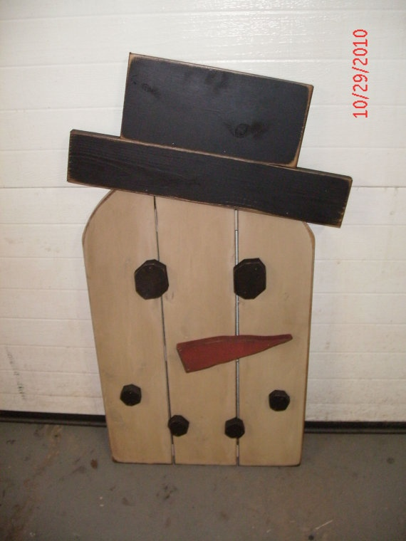 163 best ideas about christmas ideas on pinterest christmas trees pallet wood and sled - How to make a snowman out of wood planks ...