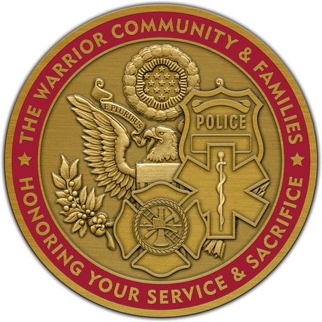 Help us honor Military and First Responder families at the 2nd annual Military Families Conference with this custom Challenge Coin.