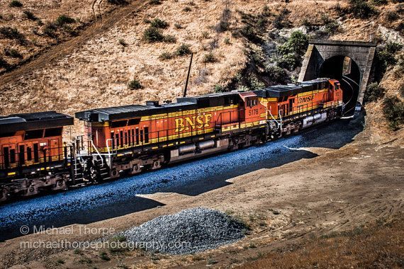 train bnsf tehachapi tehachapi loop tunnel by MichaelThorpePhotos, $35.00