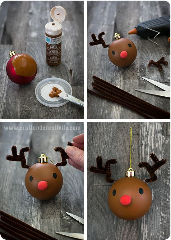 Christmas ornament makeover - by Craft & Creativity