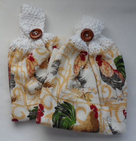 2 Kitchen Themed 100 Percent Cotton by BAGLADYFROMTHEBAY on Etsy