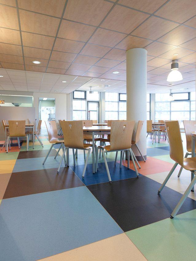 180 sqm of Mipolam Symbioz flooring installed in 2013 in KPN Restaurant, Netherlands. #flooring #design #professionals