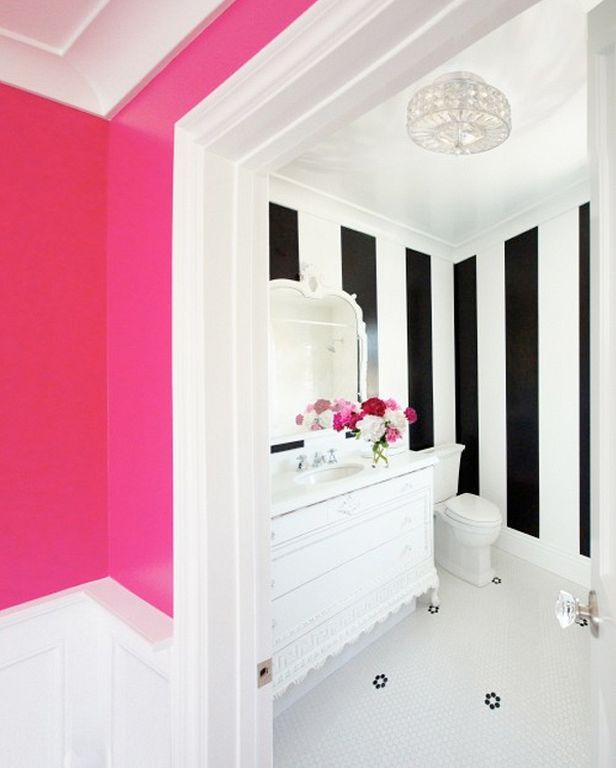 Best 25+ Pink Striped Walls Ideas On Pinterest