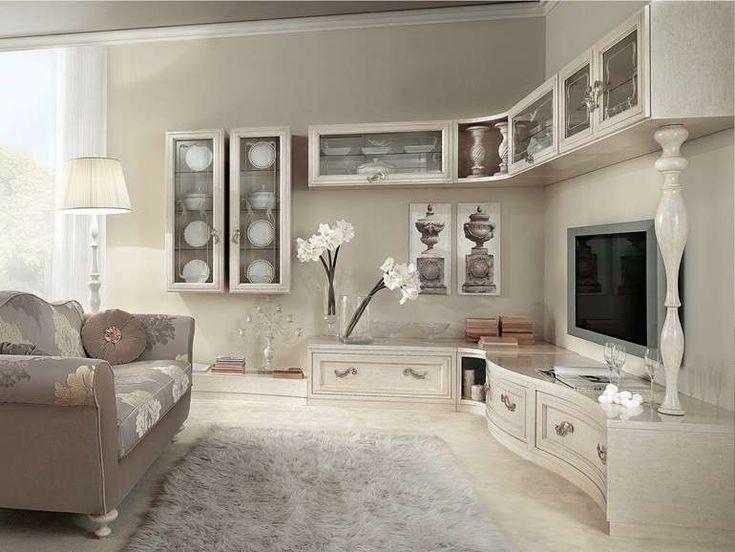 Pareti attrezzate classiche | Arredamento salotto shabby ...