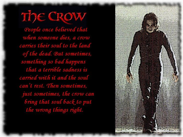 The Crow | movies and books... | Pinterest