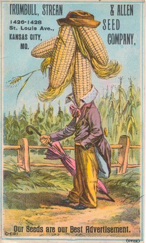 Corn Man Veggie Seed Advertisment