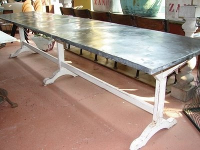 High Quality Zinc Topped Table Or Island