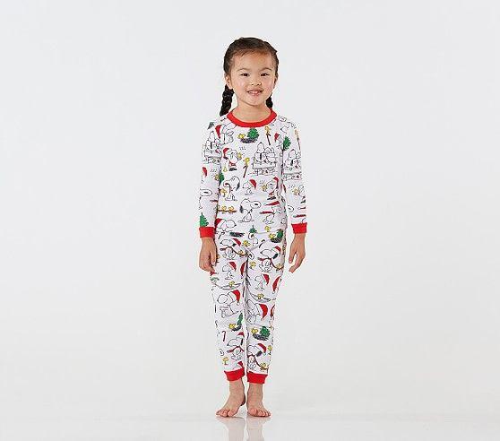 Snoopy 174 Cotton Tight Fit Pajamas Pajamas Pottery Barn