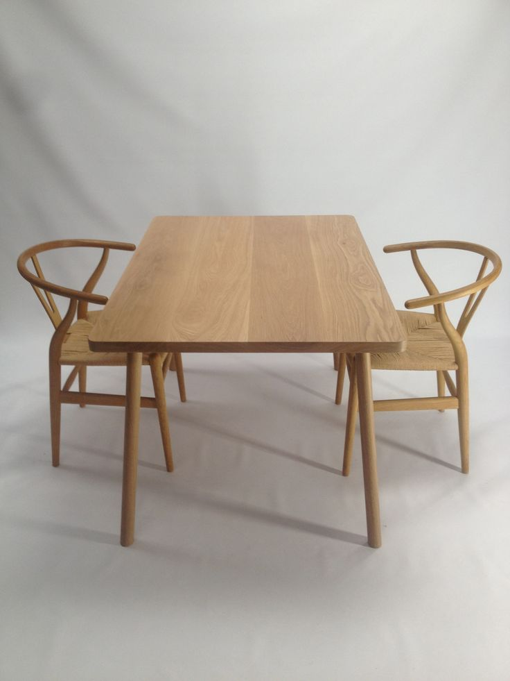 american oak dining table,available in any size,sits perfect with hans wegner chairs.  table handmade by chris colwell design