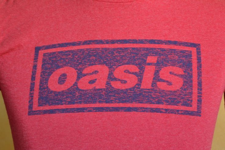 VTG Oasis Band T-Shirt 1995 Concert Tour #2 Rock Small