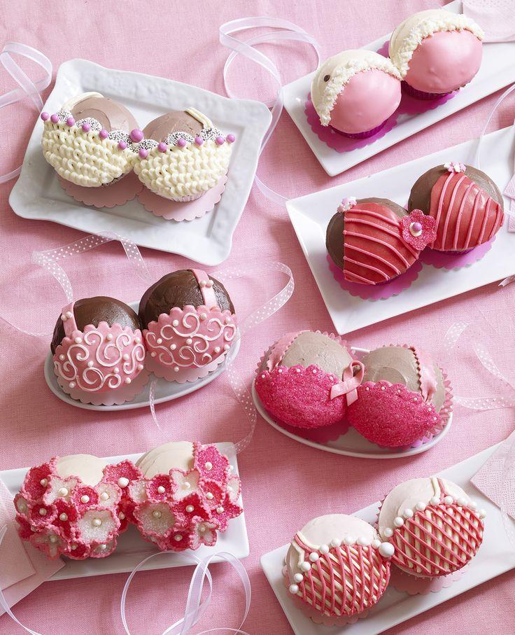 Pretty Pink Bra cupcakes