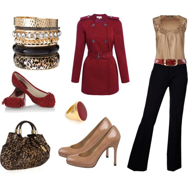 """Red Dressy Outfit"" by shingk on Polyvore"