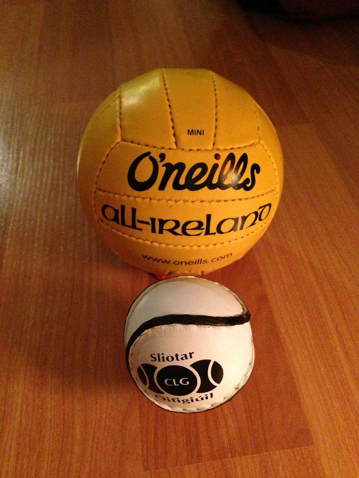 Yellow mini Gaelic football.