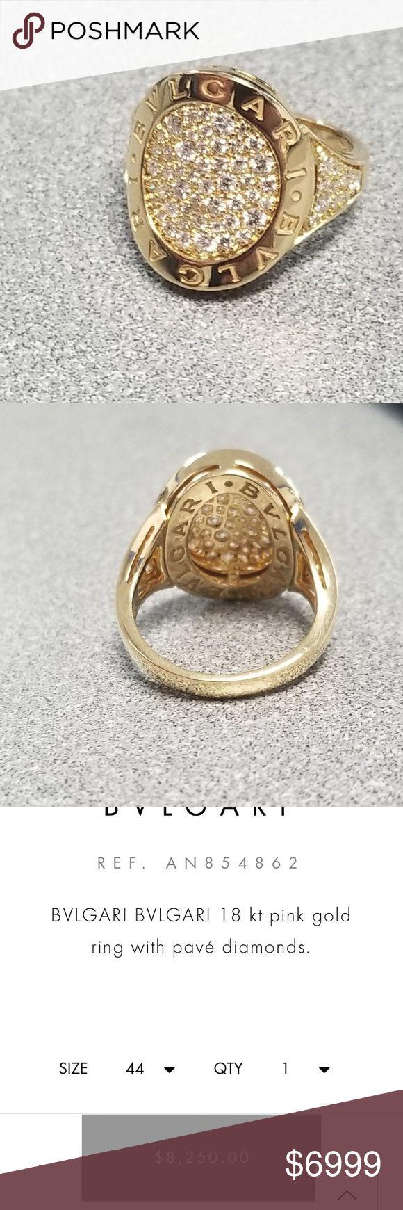 bvlgari bvlgari pave diamond 18k ring
