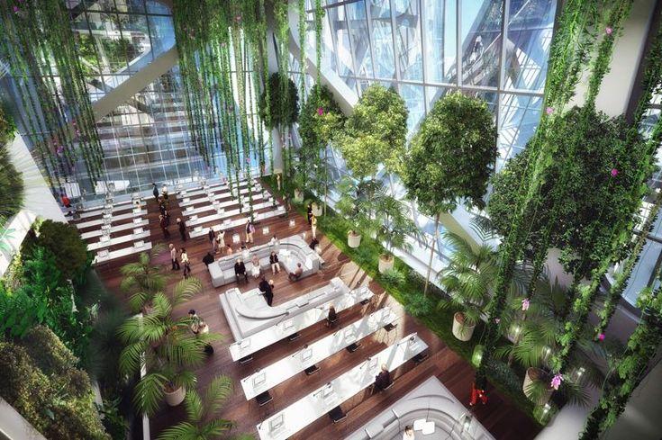 A 380 mètres de hauteur, «l'Arche bionique» (Bionic Arch) accueillera le Musée de la ville de Taichung au rez-de-chaussée, des bureaux ainsi que des équipements publics aux étages. Le sommet abritera des restaurants et un observatoire. Crédits photo : Vincent Callebaut Architectures