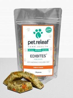 Pet Releaf CBD dog treats  Kale & Carrot https://www.cbd-cannabis-oil.com/blogs/news