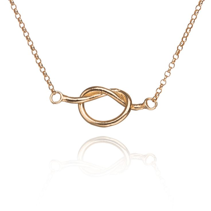 Knot gold-plated necklace