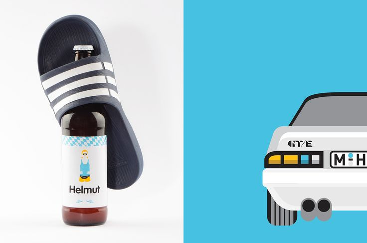 Hedon Craft Brewery Identity - Art Direction on Behance Styling, beer label design by Flying Objects