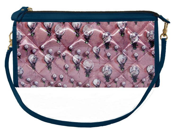 Crystal Clutch  Bi-color Old-rose and Blue http://federicalunello.com#federicalunello #bags #accessories #handmade #madeinitaly
