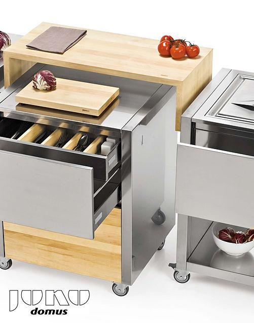 CUN kitchen on wheels, modular cart system   Joko Domus   jokodomus.com   in The U.S. via cookndine.com