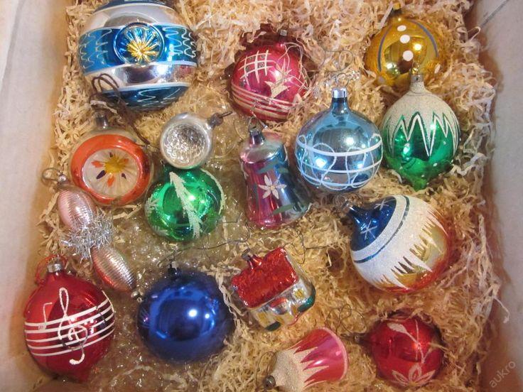 Staré vánoční ozdoby 27 ks (5693593539) - Aukro - největší obchodní portál