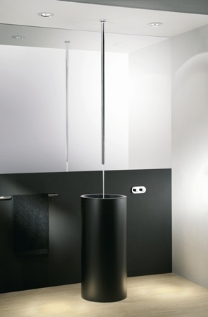 Canali Ceiling Spout With Remote Wall Mounted Mixing