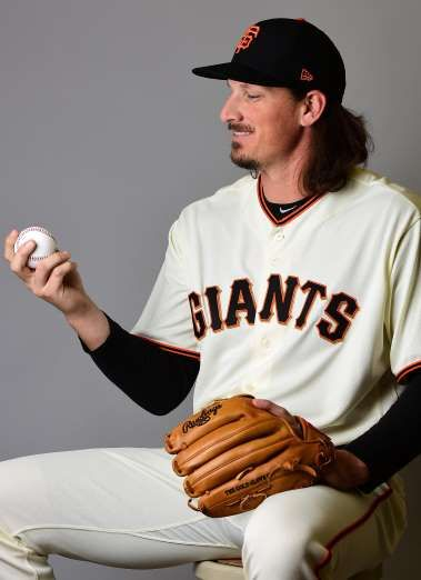 Giants-Dodgers tickets plunge to $6 after brutal start  -  April 24, 2017  SCOTTSDALE, AZ - FEBRUARY 20: Jeff Samardzija #29 of the San Francisco Giants poses for a portait during a MLB photo day at Scottsdale Stadium on February 20, 2017 in Scottsdale, Arizona. (Photo by Jennifer Stewart/Getty Images)