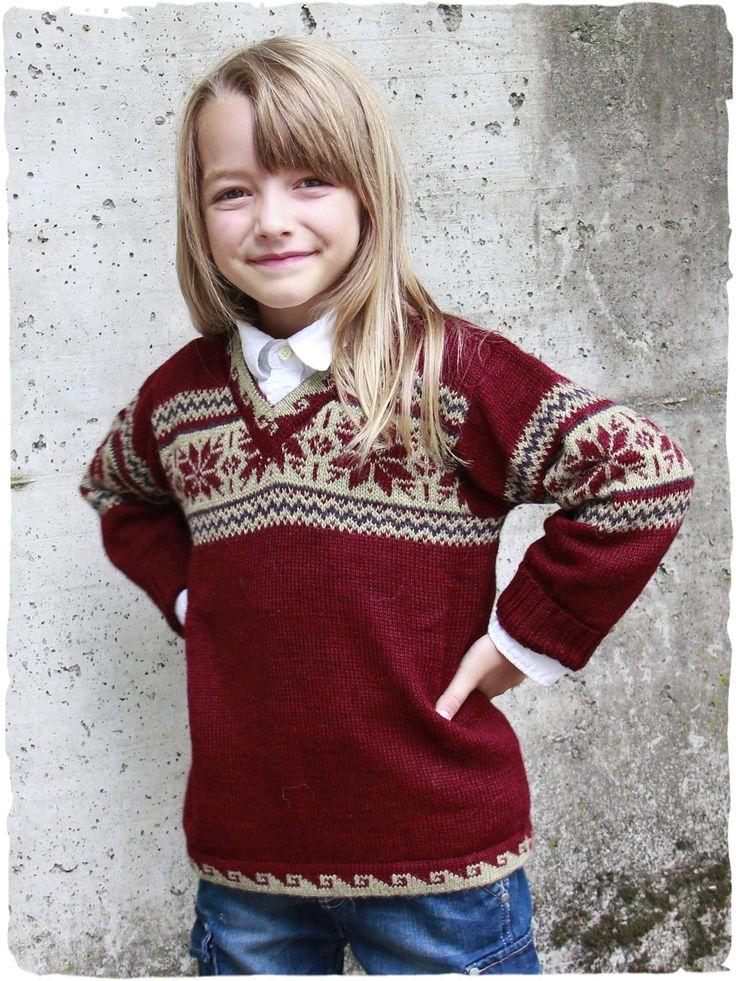 Maglione per bambini in pura lana d'alpaca made in Perù www.lamamita.it