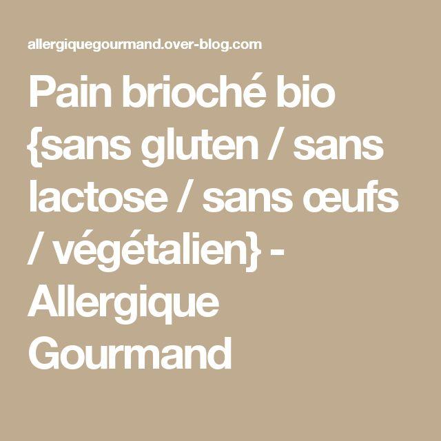 Pain brioché bio {sans gluten / sans lactose / sans œufs / végétalien} - Allergique Gourmand