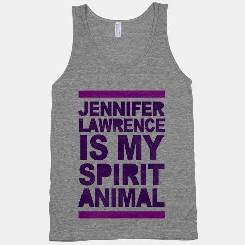 J Law Is My Spirit Animal Tank / $18.90 / Look Human
