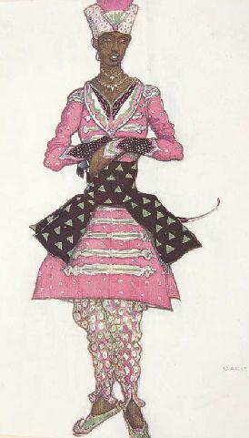 """Costume design by Léon Bakst, 1922, """"La belle au bois dormant"""", music by Tchaïkovsky."""