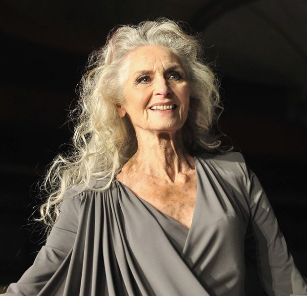 What glorious hair!! Model Daphne Selfe http://www.theguardian.com/fashion/2015/feb/18/why-do-older-women-always-have-short-hair