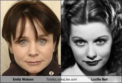 Emily Watson totally looks like Lucille Ball