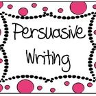 This is a set of ready to print and laminate charts which outline the most important features of persuasive writing, a definition of persuasive wri...