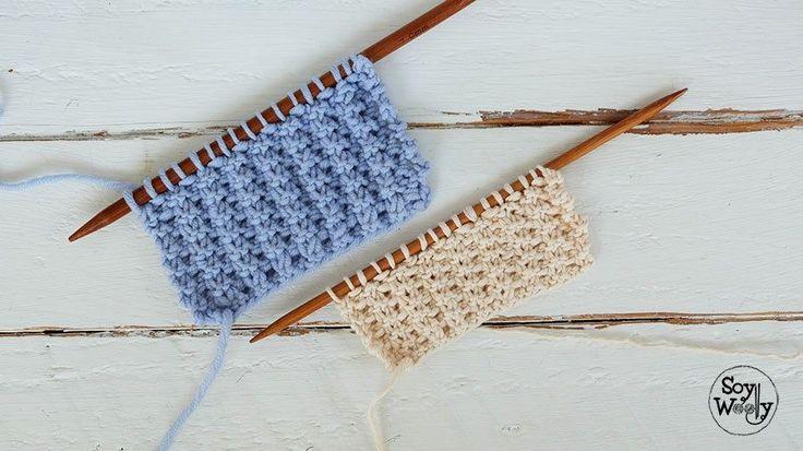 Puntada dos agujas para bebes-Soy Woolly